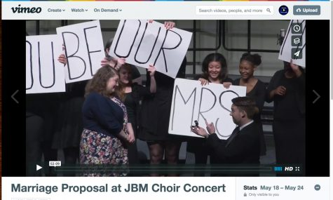 Marriage Proposal at JB Martin Concert