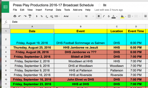 Press Play Releases Proposed Fall 2016 Schedule